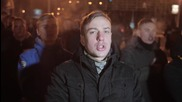 Ukraine: Activists celebrate Unification Day in Kiev with flares and chanting