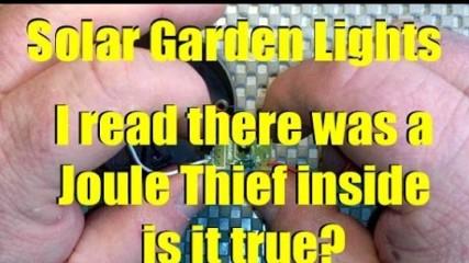 What's inside a dollar store solar garden light