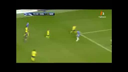 Michael Essien goal vs barcelona !!!