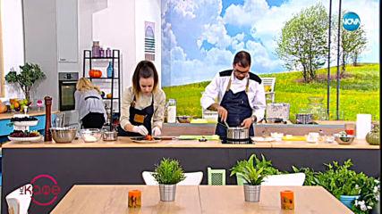 """Рецептата днес: Моркови с лайка и деконструирана тората """"Павлова"""""""