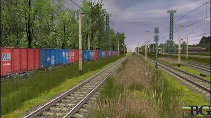 46 - 041+46 - 234 teglqt tovaren vlak Trainz - Bg