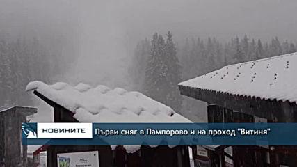 Първи сняг в Пампорово и на проход