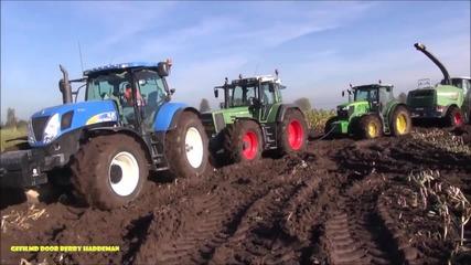 Компилация закъсали селскостопански машини
