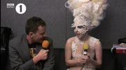 Lady Gaga interview brit awards
