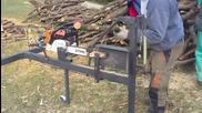 Ето как можете сами безопасно да си нарежете дървата, без нужда от помощници.