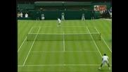 Wimbledon - Federer - Hrbaty - 4:1 Втори Сет