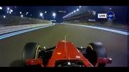F1 Гран при на Абу Даби 2012 - контакта между Massa и Webber [hd][onboard]
