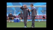 Преди мача от група D Уругвай - Англия
