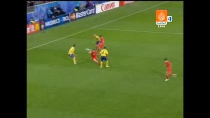 Euro 2008 - Русия - Швеция 2:0 Голът На Роман Павлюченко *HQ*