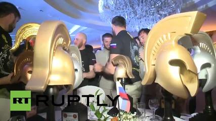 Награждаването на руските спецчасти за победата им във военно състезание в Йордания