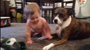 Бебе на '' кучешка баня ''