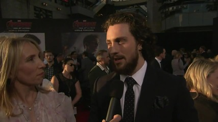 Avengers: Age Of Ultron World Premiere: Aaron Taylor-Johnson