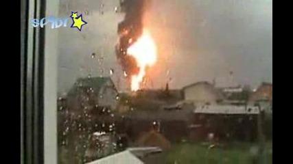 експлозия заснета на живо