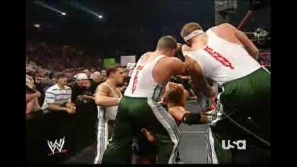 Wwe Raw 2006 The Spirit Squad Vs Triple H Hbk Help To Hhh Dx Return