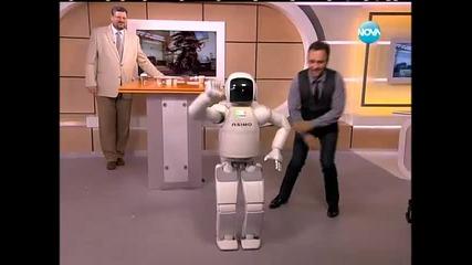"""Роботът Асимо гостува в ефира на """"здравей, България"""""""