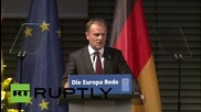 "Germany: Merkel and Germany are examples of ""the best European tradition"" - Donald Tusk"