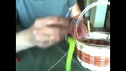 Basket Weaving Video #18a - How to Begin Lashing a Basket Rim in Place