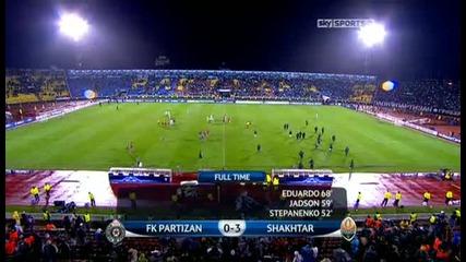 Partizan Belgrade v Shakhtar Donetsk Sky Highlights - football video - 23.11.10