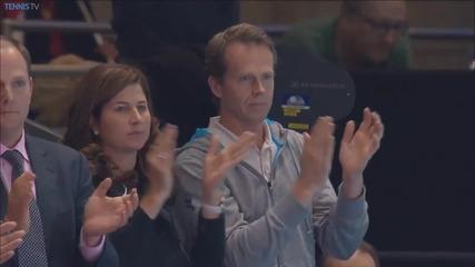 Roger Federer спасява 4 мач точки срещу Wawrinka