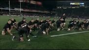 Ритуалът хака изпълняван от Kapa O Pango haka vs the Springboks - Auckland 2010