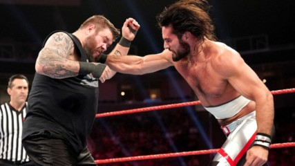 Sami Zayn as guest referee for Seth Rollins VS Kevin Owens: Wal3ooha, 13 June 2019