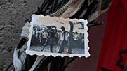 Окичиха паметника на Карл Маркс в УНСС с венци и черепи
