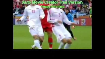 Кристиян Роналдо вкарва с малко късмет - смях