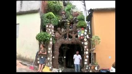 В Бразилия художник изгради къща в стила на Антонио Гауди и го превърна в музей