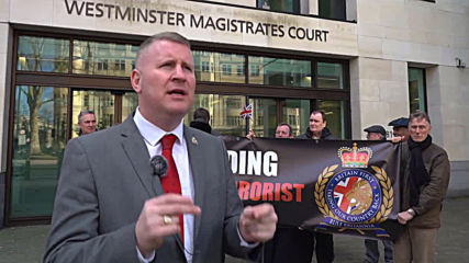 UK: Britain First leader Golding denies terror offence at London court