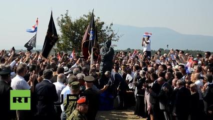 Хърватия: Празненствата по случай Денят на победата се проведоха в крепостта Книн