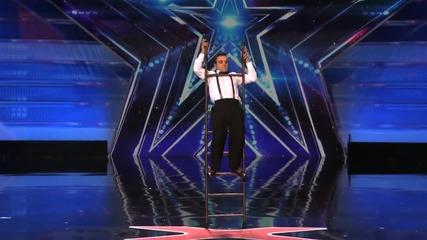 Мъж показва страхотни умения със стълба - Америка търси талант 2015