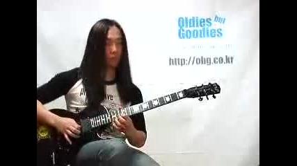 Този е много луд китарист
