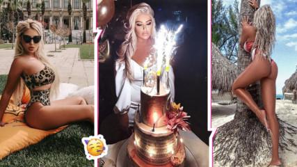 Андреа отпразнува скандално рождения си ден, после замина за Доминикана и нагорещи страстите
