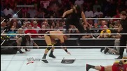 Wwe dean ambrose and seth rollins headlock power driver and pice of mined