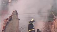 Къща изгоря до основи в гр. Кочериново