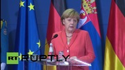 Serbia: Merkel pledges support to Balkan nations regarding migrant crisis
