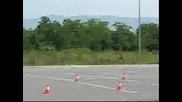 New Mercedes E350 Insane Breaking With 80 km/h (testing Esp Breaking System) (wheel Scream)