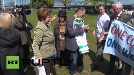 Latvia: Riga protesters rally against EU in anti-Eastern Partnership protest