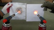 Tec Aerogel blanket - fire resistance test - private archive