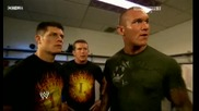 Raw 06/29/09 Legacy & Batista [backstage]