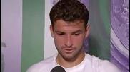 Интервю на Григор Димитров след мача с Анди Мъри - Wimbledon 2014