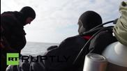 Russia: Has the Geographical Society set a new diving record?