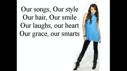 Hannah Montana [s3] - Lets Get Crazy - Lyrics On Screen