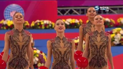 Красота и грация: Ето го изпълнението на ансамбъла ни по художествена гимнастика
