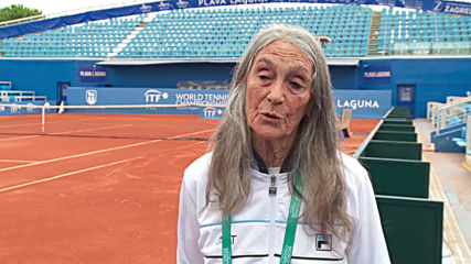 Argentine grandma achieves her tennis tournament dream at 85 years old
