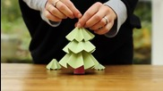 Как да си направим коледно дърво от хартия
