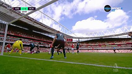 Арсенал - Бърнли 1:1 /първо полувреме/