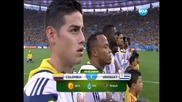 "Колумбия победи ""беззъбия"" Уругвай с 2:0"