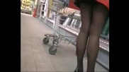 Пазаруването гръцки Ваг... отблизо без бикини Shopping upskirt without panties