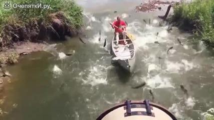 Този едва ли очакваше толкова успешен риболов!